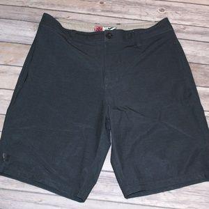 Men's MICROS Black Board Shorts Drawstring Size 30